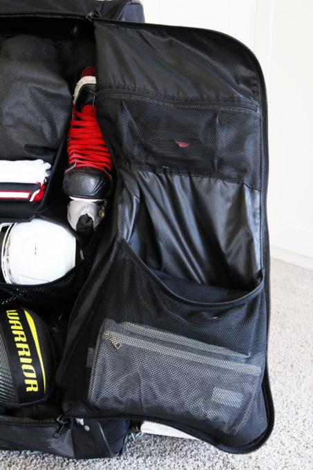 Rabat d'un sac de hockey organisé