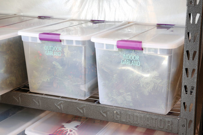 Labeled Bins, Bins Created with a Silhouette Cameo and Adhesive Vinyl