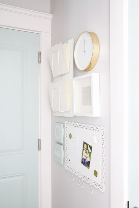 Command Center Gallery Wall in an Organized Mudroom