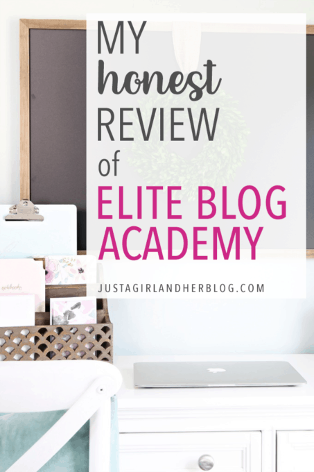 I'm sharing my honest review of Elite Blog Academy, a course by Ruth Soukup that teaches bloggers how to turn their blog into a successful business. | #blogging #onlinebusiness #eliteblogacademy #eba #eba4 #startablog #entrepreneur