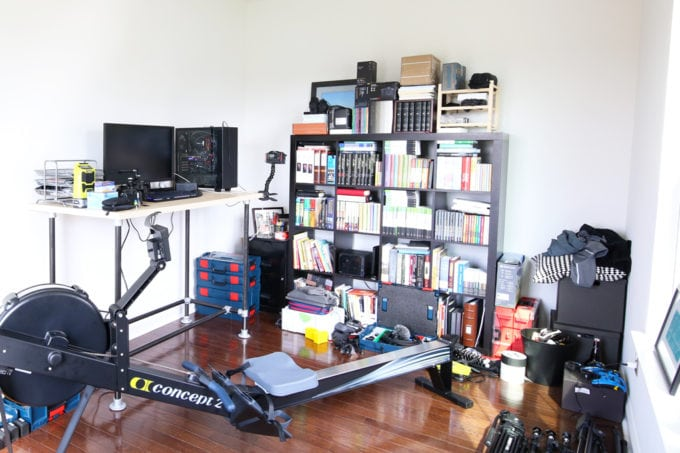 Cluttered Home Office Before Photo