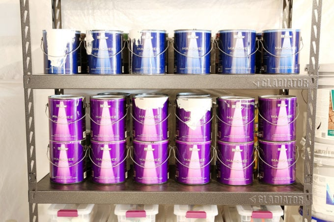Organized Paint, Basement Organization