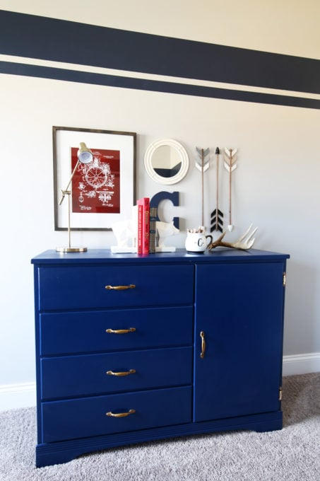 Blue Dresser in a Shared Boys' Bedroom