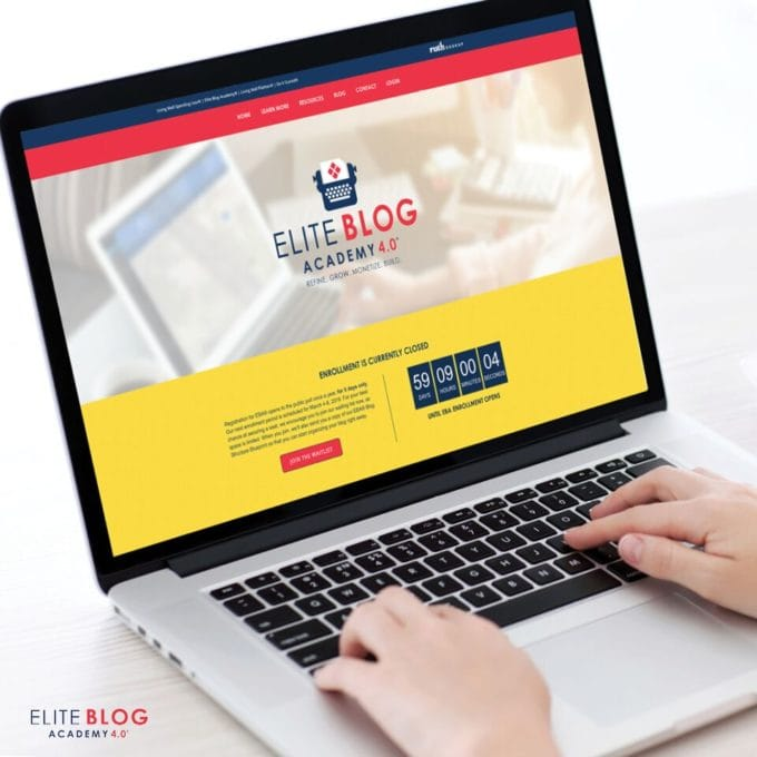 I'm sharing my honest review of Elite Blog Academy, a course by Ruth Soukup that teaches bloggers how to turn their blog into a successful business. | #blogging #onlinebusiness #eliteblogacademy #eba #eba4 #startablog #entrepreneur, Join the Elite Blog Academy Waitlist