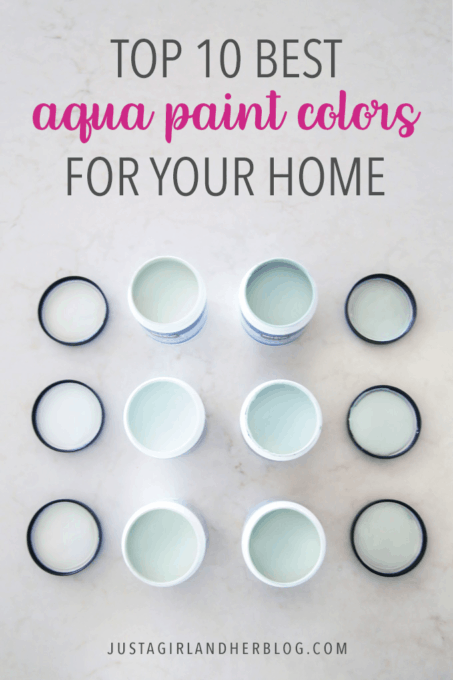 Aqua paint colors can be tough to sort through to find the perfect blend of blue and green for your space, so I'm sharing my 10 favorite aqua paint colors that will make any room feel soothing and serene! | #aqua #aquapaintcolors #aquapaint #mintpaint #mintpaintcolors #paintcolors #bestpaintcolors , Top 10 Best Aqua Paint Colors for Your Home