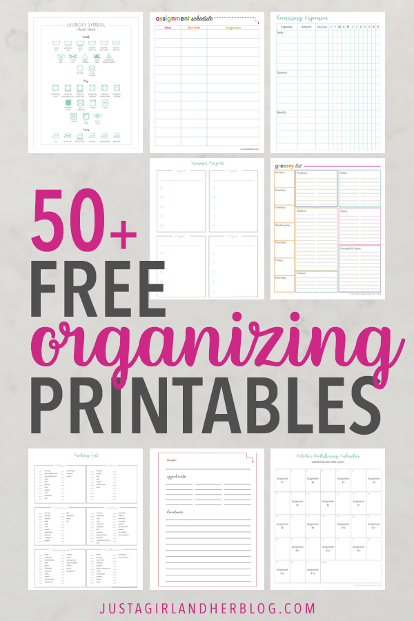 Free Printable Library | 50+ Free Organizing Printables
