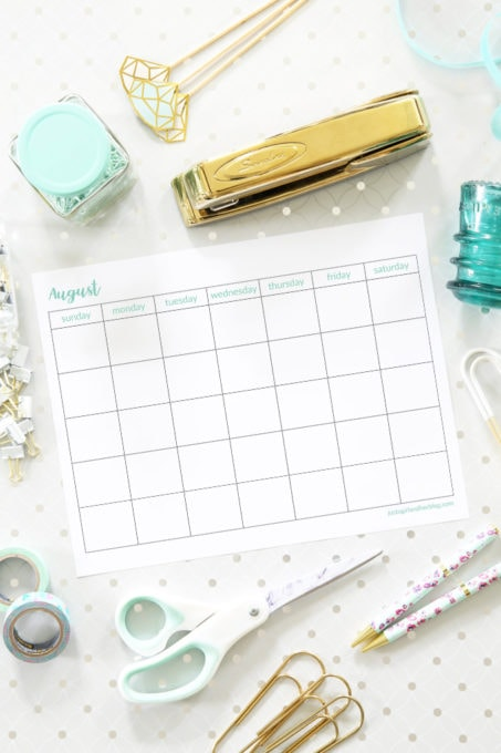 August 2019 Calendars, Free Printables