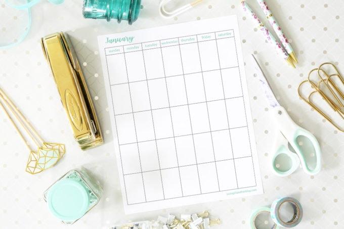 Monthly Calendar Free Printables