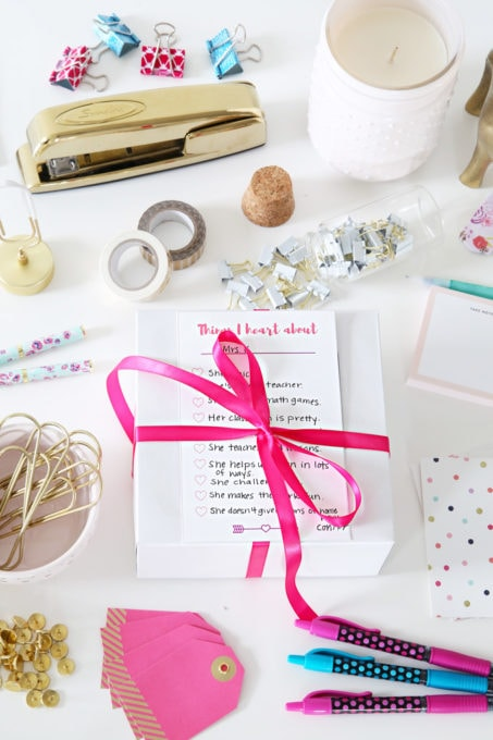 Valentine's Day Teacher Gift with Free Printable