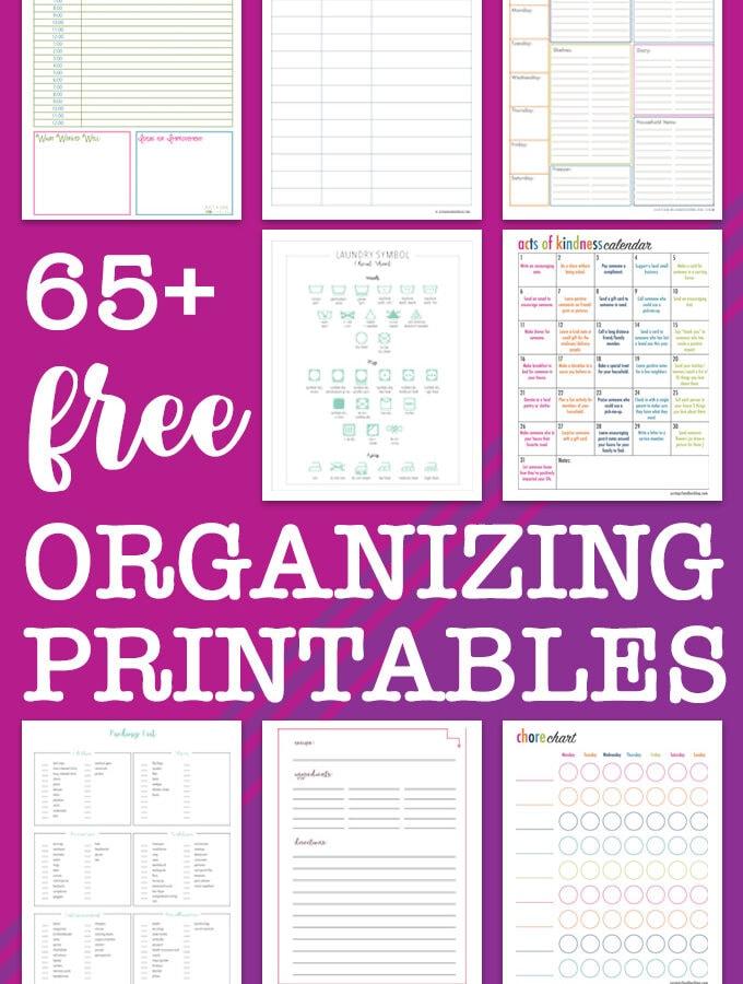 65+ Free Organizing Printables