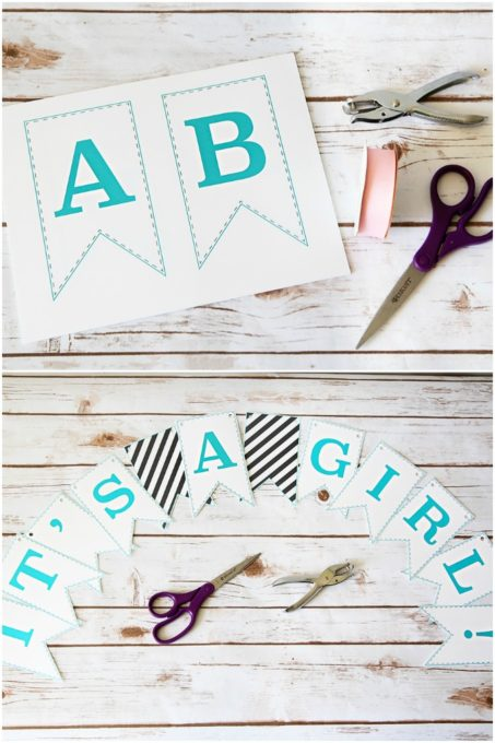 Free Printable Bunting Banner Letters
