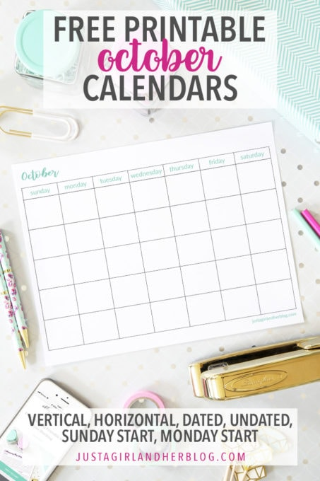 photograph regarding October Printable Calendar known as Oct 2019 Calendar Charming ( Free of charge!) Oct Printable