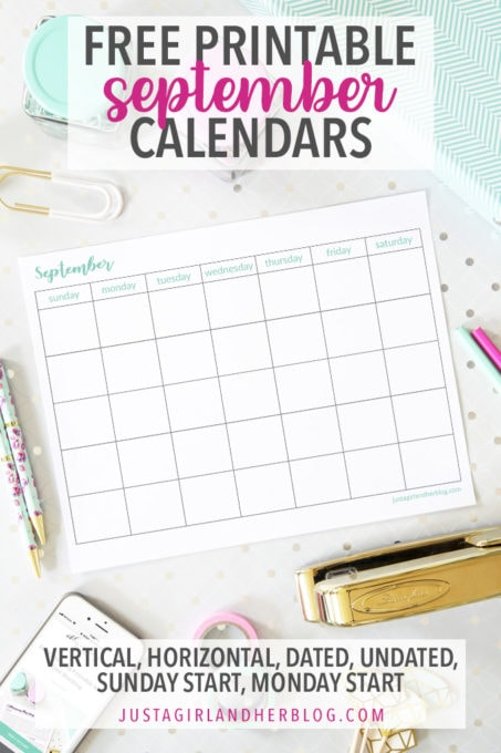 photo relating to Pretty Printable Calendar referred to as September 2019 Calendar Lovely ( Absolutely free!) September