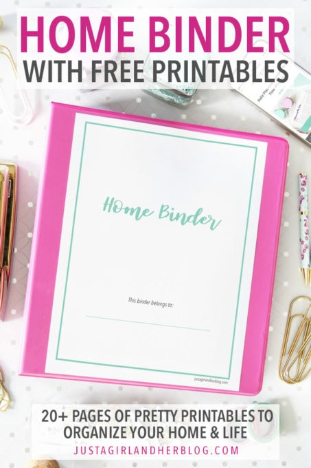 Home Binder with Free Printables