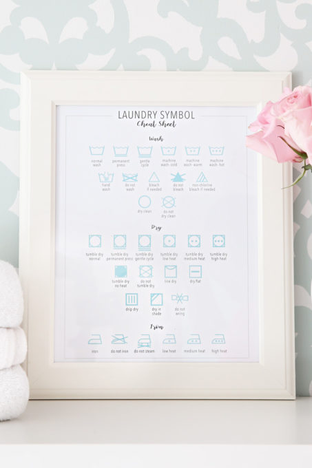 Laundry Symbol Cheat Sheet Free Printable