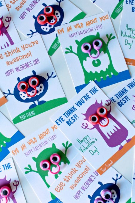 Free Printable Monster Valentines