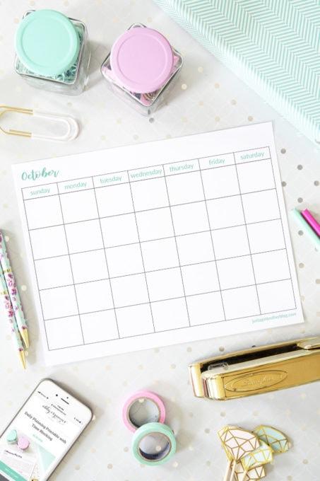October Free Printable Calendars