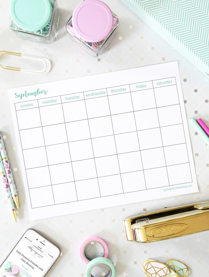 Free September Calendar Printables
