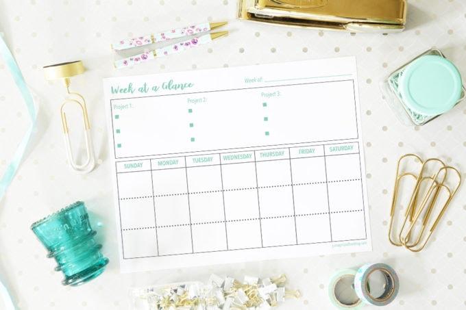 Weekly Planning Free Printable