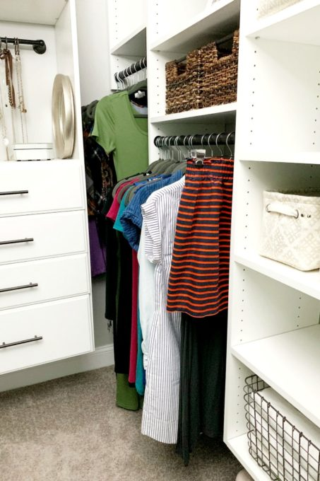 Dresses in Closet Organized with the KonMari Method, Marie Kondo