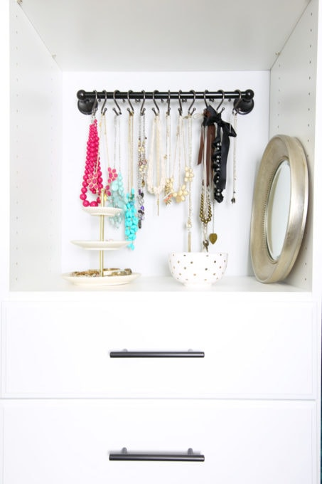 Organized Jewelry in a Master Bedroom Closet