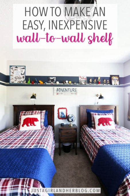How to Make an Easy, Inexpensive Wall-to-Wall Shelf