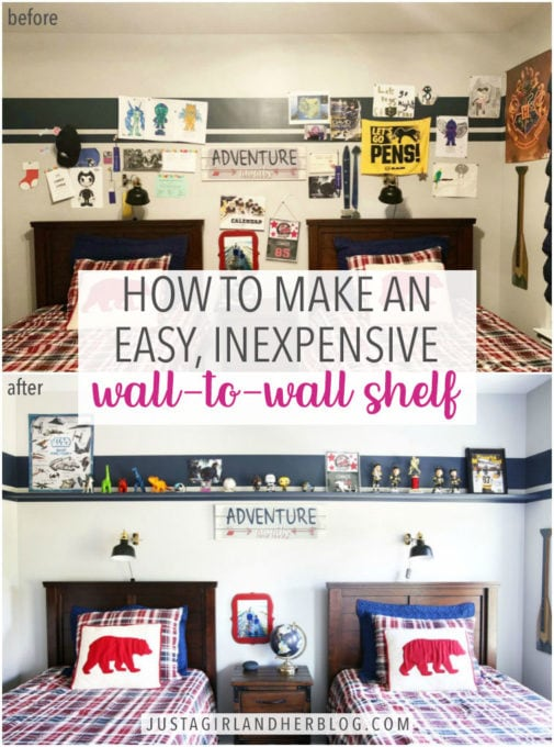How to Make a DIY Wall-to-Wall Floating Shelf