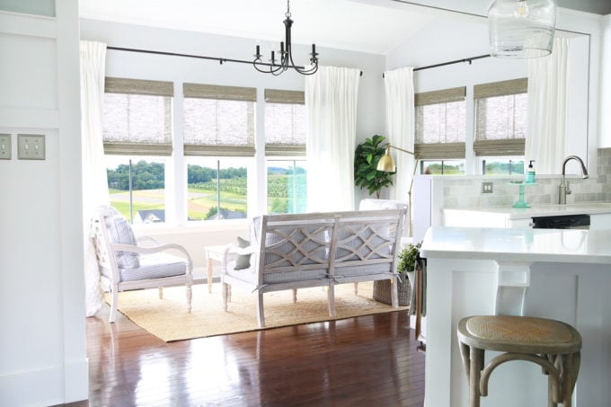Sunroom with View of Farm Land