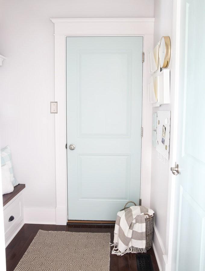 Mudroom Doors Painted Sherwin Williams Rainwashed