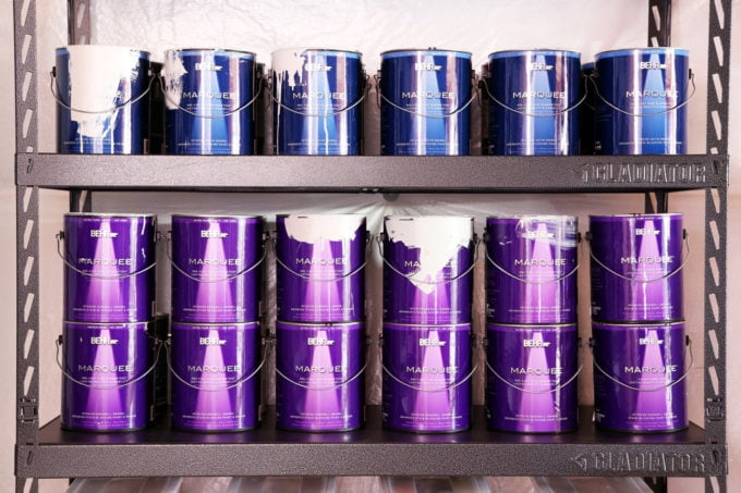 Rows of Behr Marquee Paint
