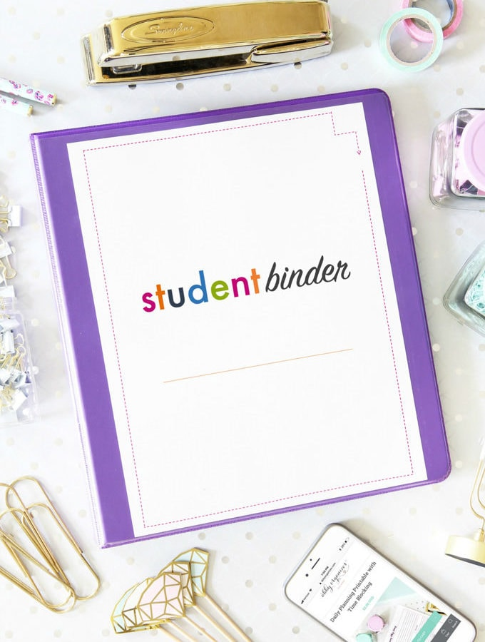 Student Binder Printable Organizing Pages