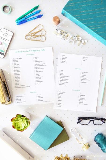Checklist of 15-Minute Decluttering Tasks