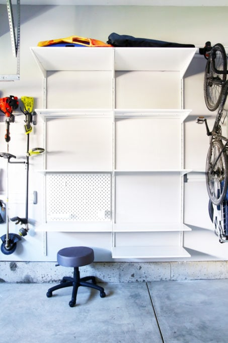 IKEA ALGOT Shelves in an Organized Garage