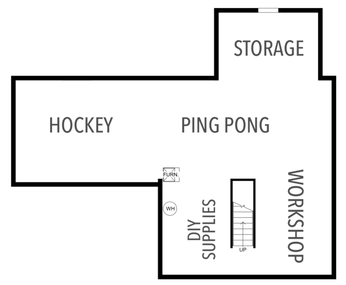 Storage Zones in an Organized Basement