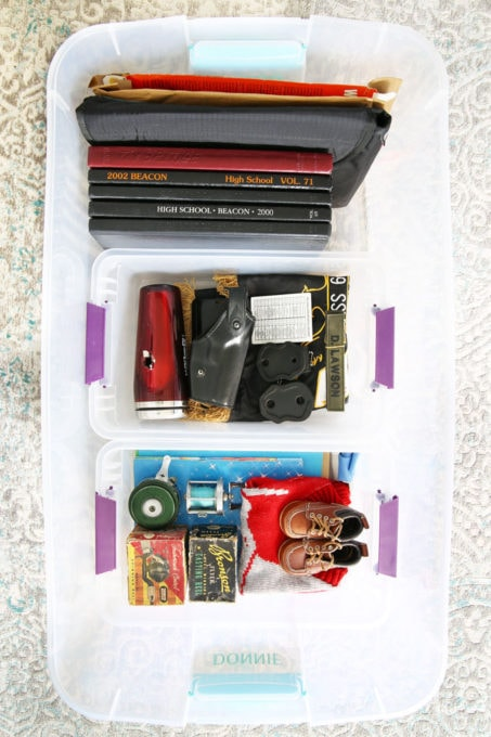 Organized Sentimental Items