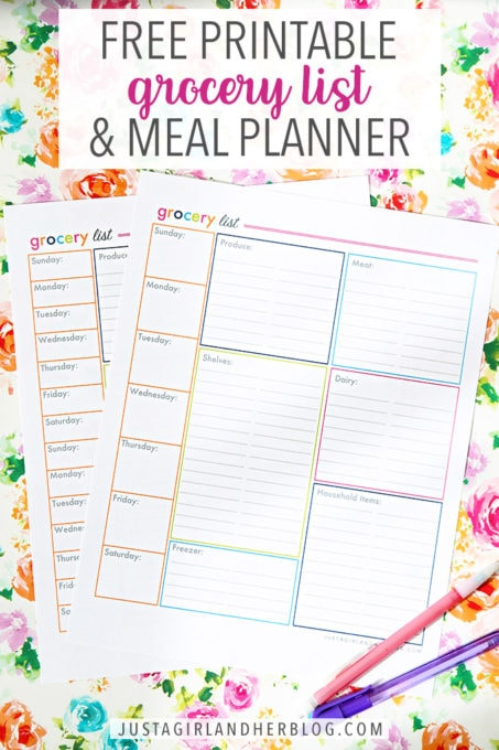 image relating to Printable Grocery List by Category identify Totally free Printable Grocery Record and Dinner Planner Abby Lawson