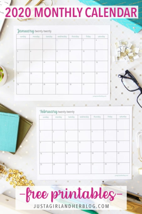 Free Home Management Binder Printables 2020.Free Printable 2020 Calendar Abby Lawson