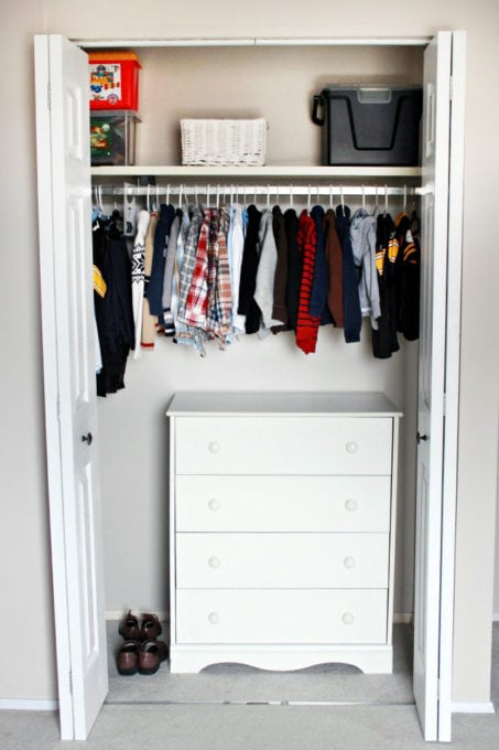 Dresser in an Organized Closet