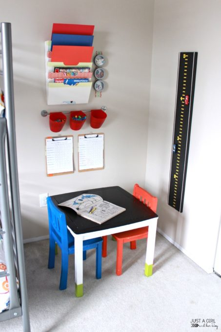 Craft Corner in an Organized Kids' Room