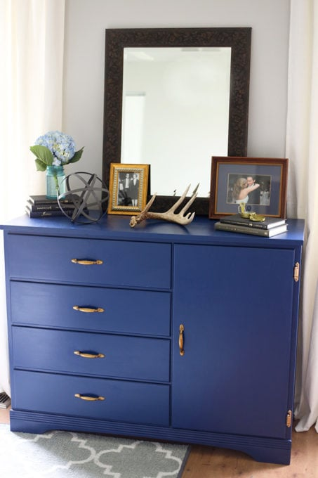 Thrifted Dresser in a Master Bedroom
