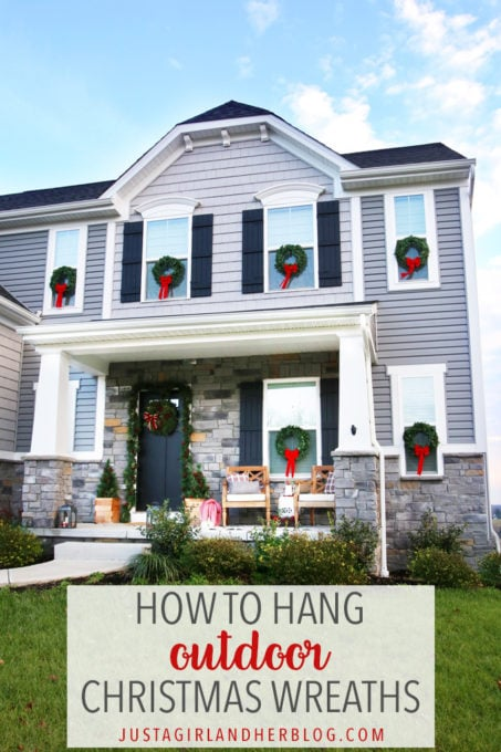How to Hang Outdoor Christmas Wreaths