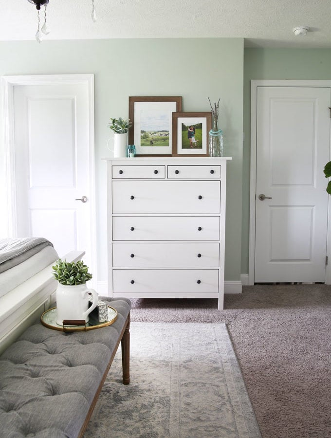 IKEA HEMNES Dresser in a Master Bedroom