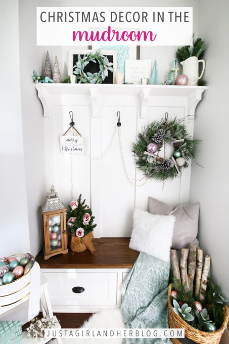 Christmas Mudroom Decor