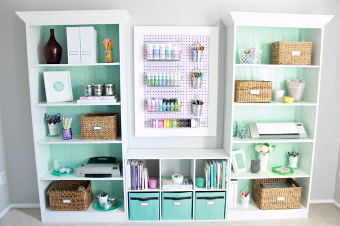 Organized Home Office and Craft Room