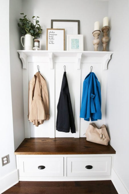 Organized Mudroom Built-Ins