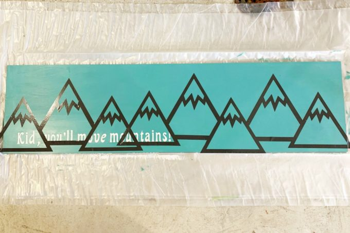 All Mountains on DIY Wood Sign