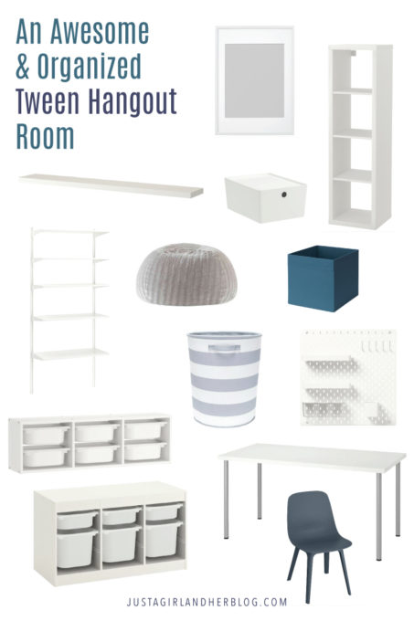 An Awesome and Organized Tween Hangout Room