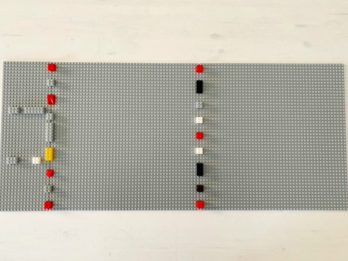 LEGO Baseplates Attached with LEGO Bricks
