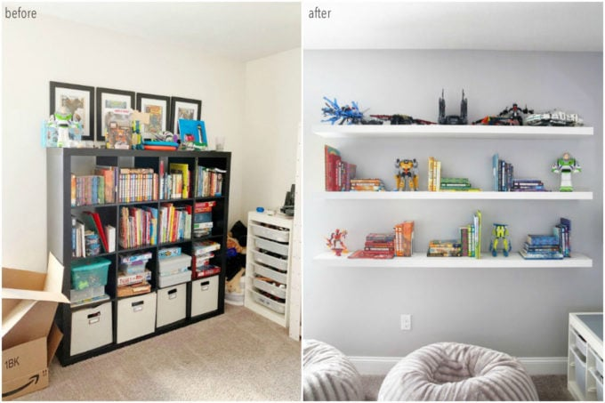 Organized Books Before and After