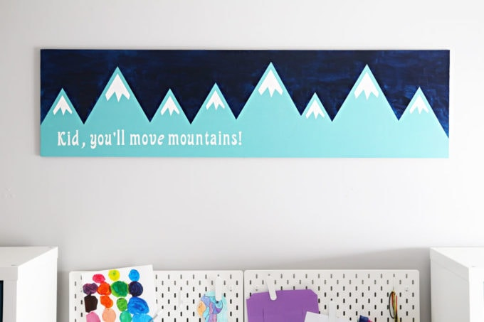 DIY Wood Sign with Mountains